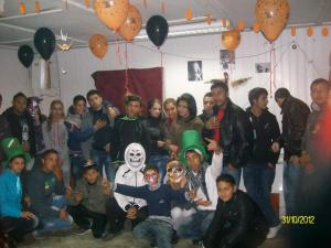 YES Alumnus Reneta Krivonozova ('12) hosts a Halloween party in Rakitovo, Bulgaria