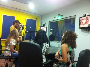 YES alumni take to the airwaves to promote recruitment for the 2014-=2015 program year.