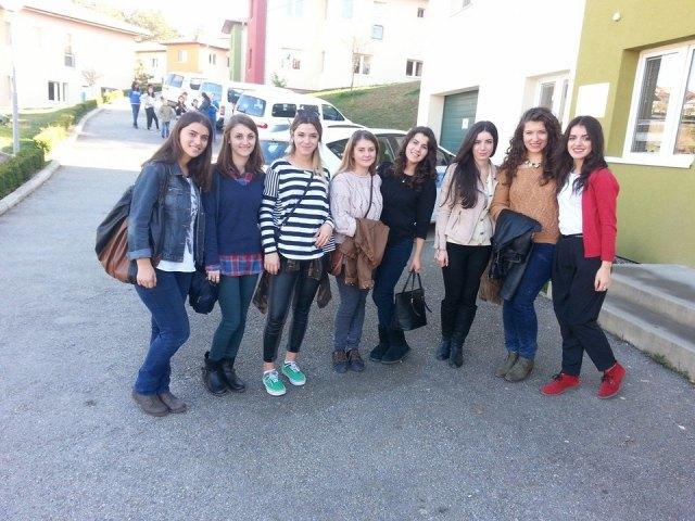 YES Kosovo alumni at SOS Children's Village in Pristina.
