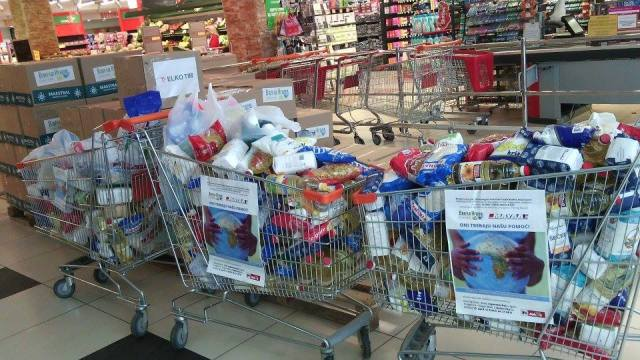 Food donated by citizens